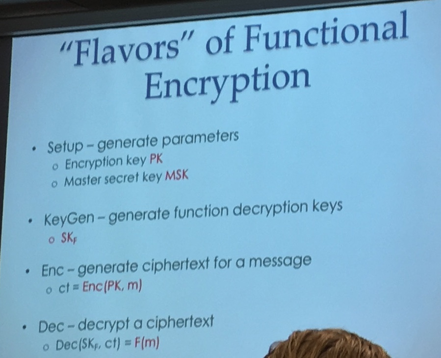 flavors of functional encryption